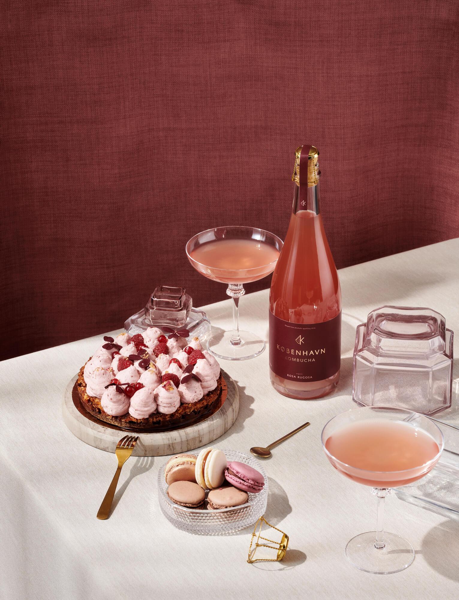 KBH KOMBUCHA rosa cake - København Kombucha